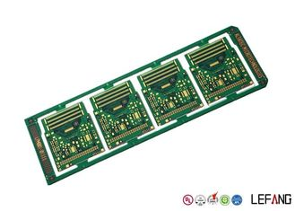 10 Layers Printed Circuit Board PCB Green Solder Mask ENIG Surface Treatment